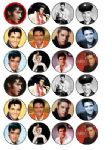 24 x Elvis Presley Rice Wafer Paper Cake Bun Toppers